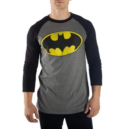 Men's Batman Distressed Logo Raglan Tee - Batman Centerpieces