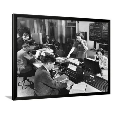 Telephone Switchboard, 1956 Framed Print Wall Art (1956 Bell Telephone)