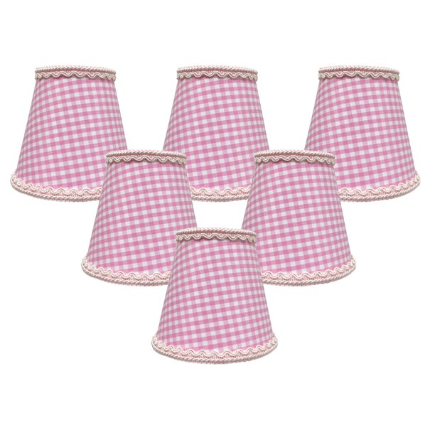 Royal Designs Pink Gingham Empire, Pink And White Chandelier Lamp Shades