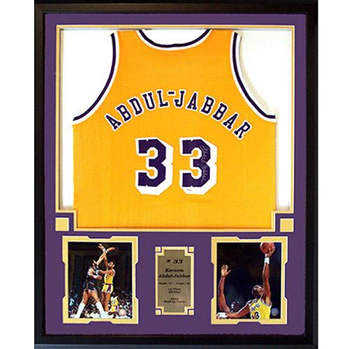 NBA 36x44 Autographed Jersey Frame, Kareem Abdul Jabbar Los Angeles Lakers