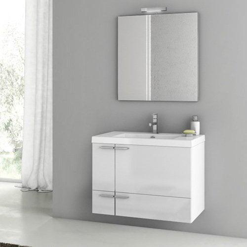 ACF by Nameeks ACF ANS21 New Space 31-in. Single Bathroom Vanity Set - Glossy White