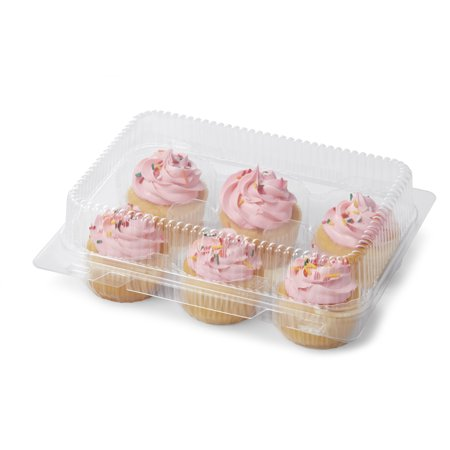 Wilton 6-Cavity Clear Disposable Cupcake Boxes, 4-Count