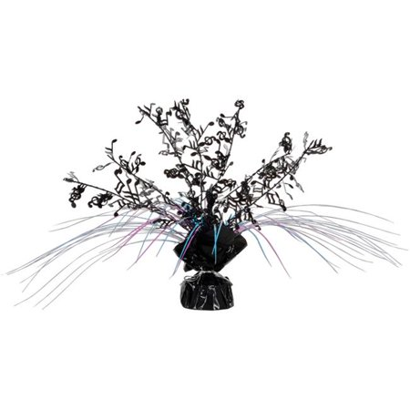 Musical Note Centerpieces (Musical Notes Gleam N Spray Centerpiece - Black  Cerise  Turquoise Case Of)