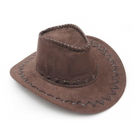 Dark Brown Western Cowboy Cowgirl Cattleman Hat for Kids Children Party Costume](Cowgirl Boots Costume)