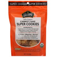 Go Raw 100% Organic Carrot Cake Super Cookies, 3 oz, (Pack of 12)