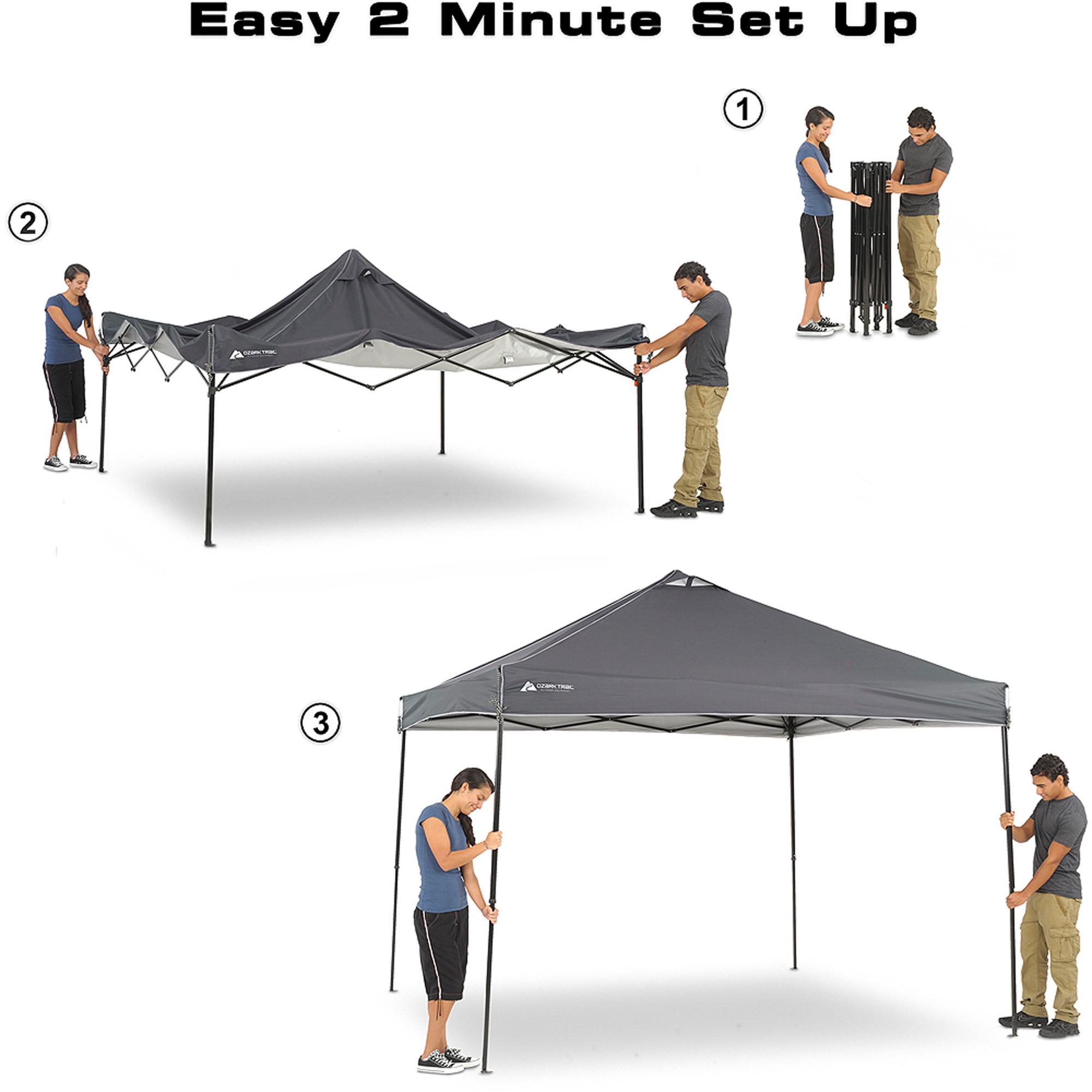 Ozark Trail 10 X 10 X 112 Instant Canopy Dark Grey Walmart