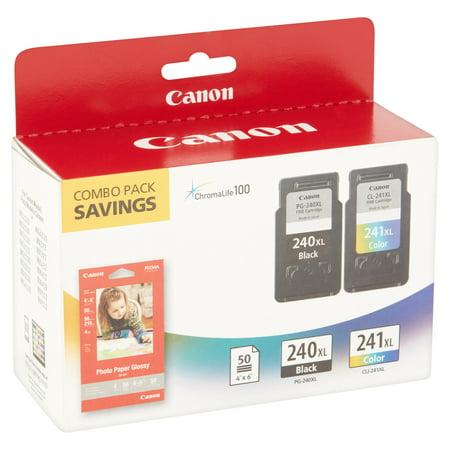 Best Canon PG-240XL/CL-241XL/GP-502 Original Ink Cartridge/Paper Kit, 2 / Pack (Quantity) deal