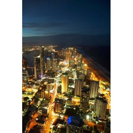 Australia Queensland Surfers Paradise City Skyline Poster Print by David Wall (Surfers Parade)