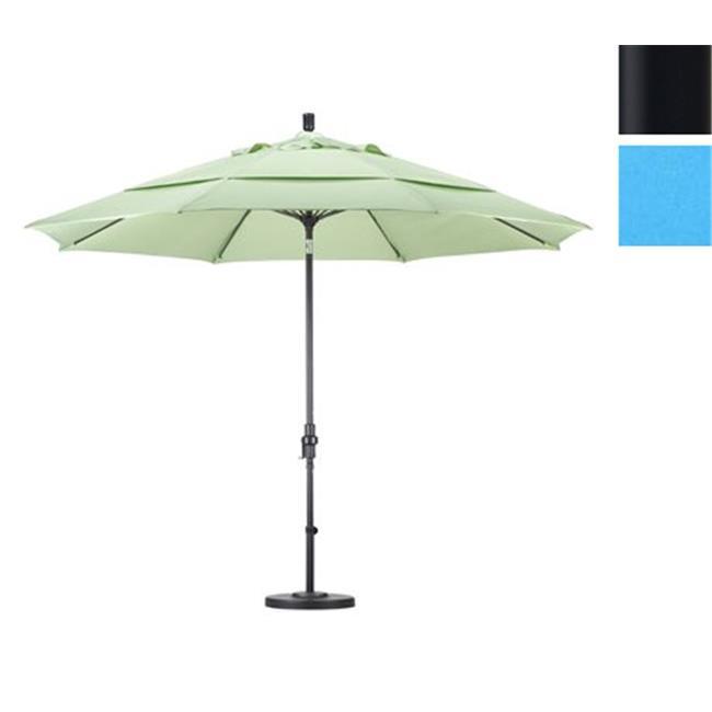 Californie Umbrella GSCUF118705-SA26-DWV 11 pi. Fiberglass Market Umbrella Collier Tilt DV emm-l-e Black-Pacifica-Capri - image 1 de 1