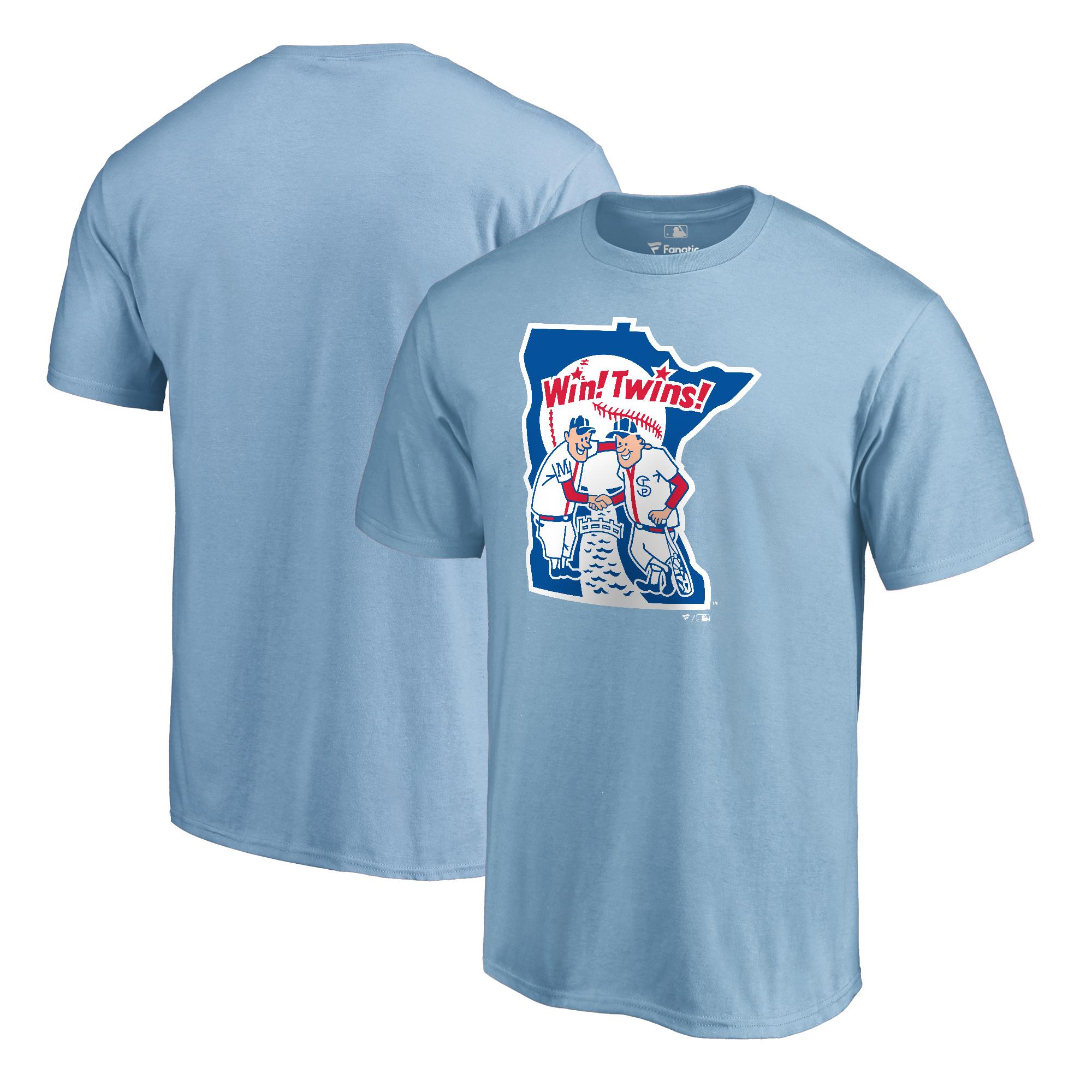 Minnesota Twins Fanatics Branded Cooperstown Collection Huntington T-Shirt - Light Blue