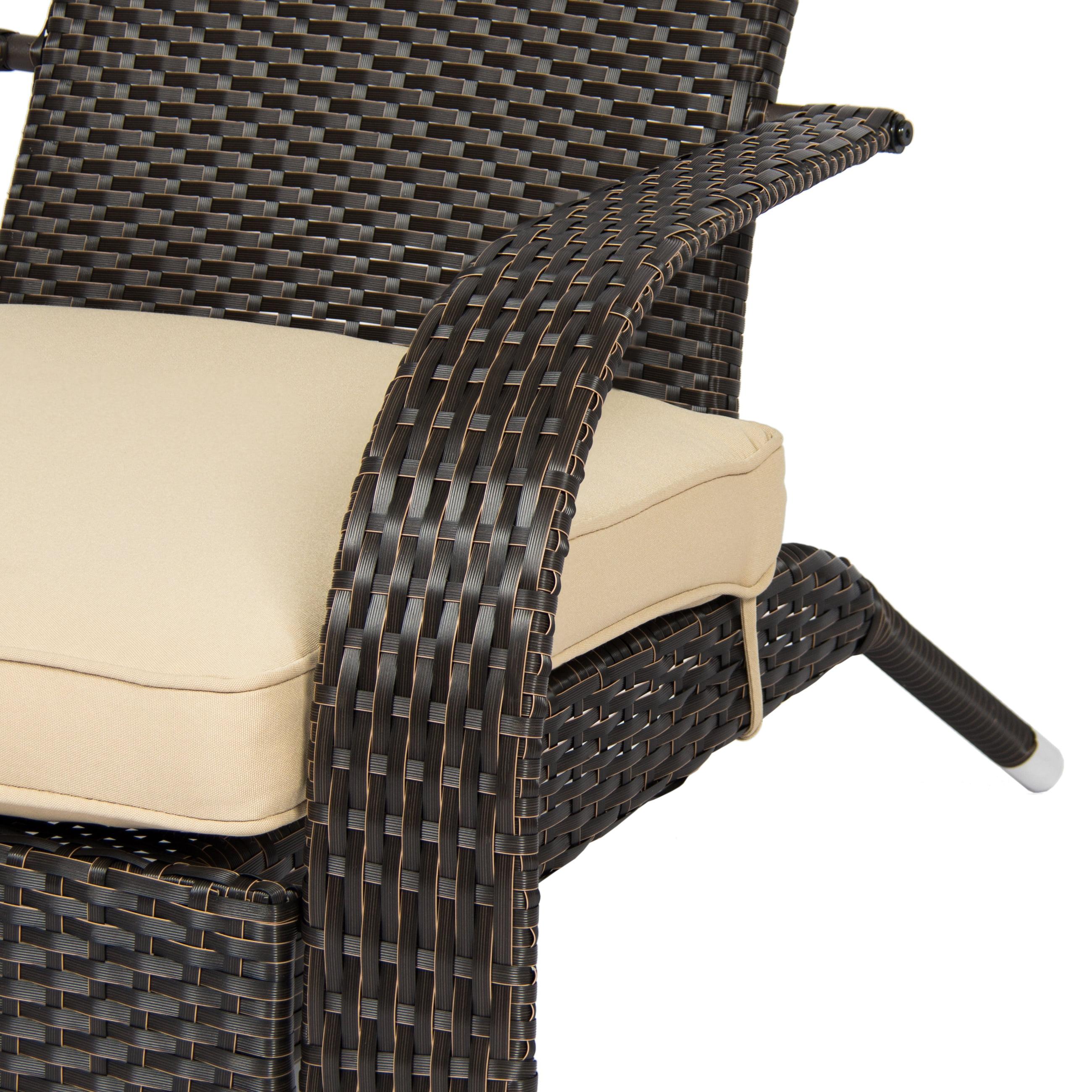 Wicker Adirondack Chair Patio Porch Deck Furniture Outdoor All