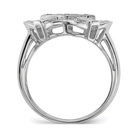 Sterling Silver Black & White Diamond Ring - image 1 de 6