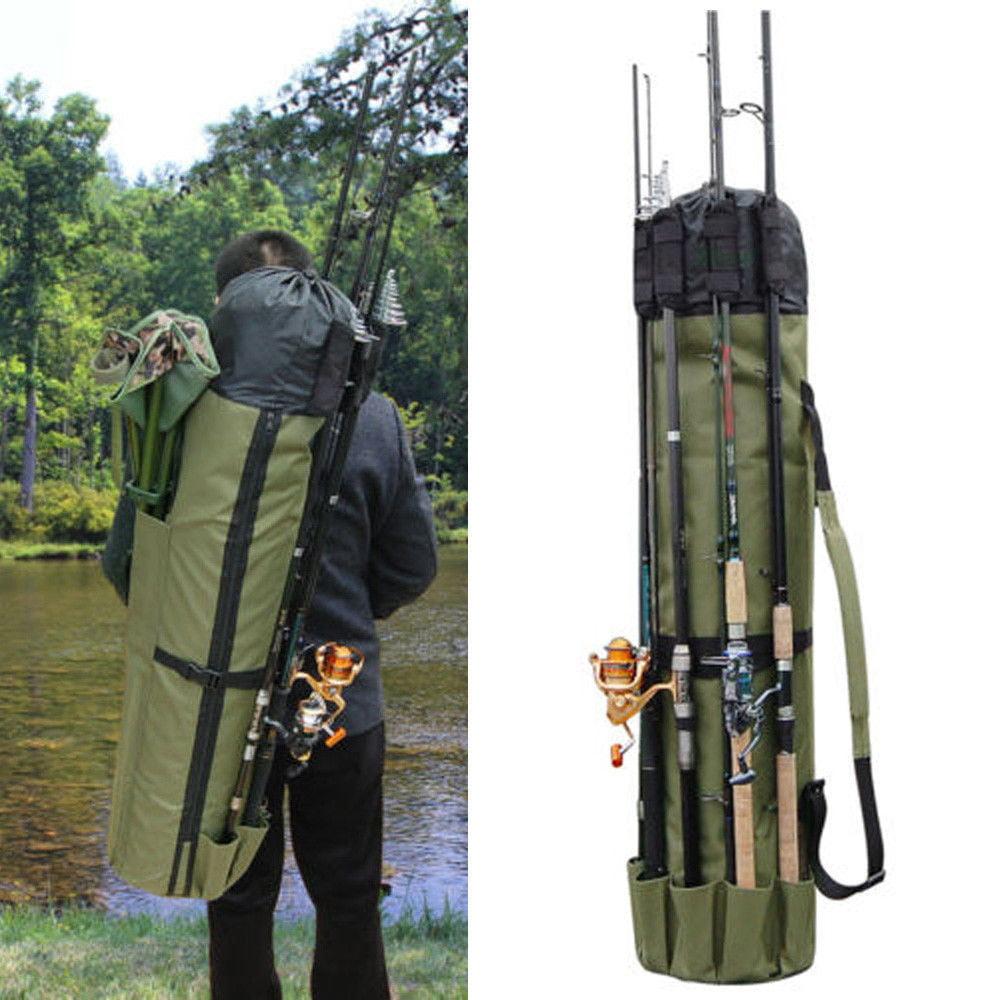 Fly Rod Tube Carrier Hard Fishing Rod Case Rod Holder Case Canvas Rod Bag
