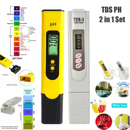 Digital LCD TDS+ PH Temperature Meter Pen Pool Drinking Water Quality Tester