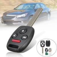 3+1 Buttons Keyless Entry Remote Key Fob ID46 Chip Uncut Replacement For Honda Pilot #KR55WK49308