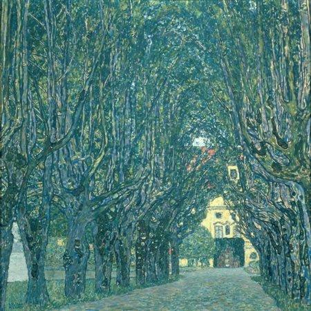 Avenue in the Park of Schloss Kammer, 1912 Botanical Landscape Print Wall Art By Gustav Klimt