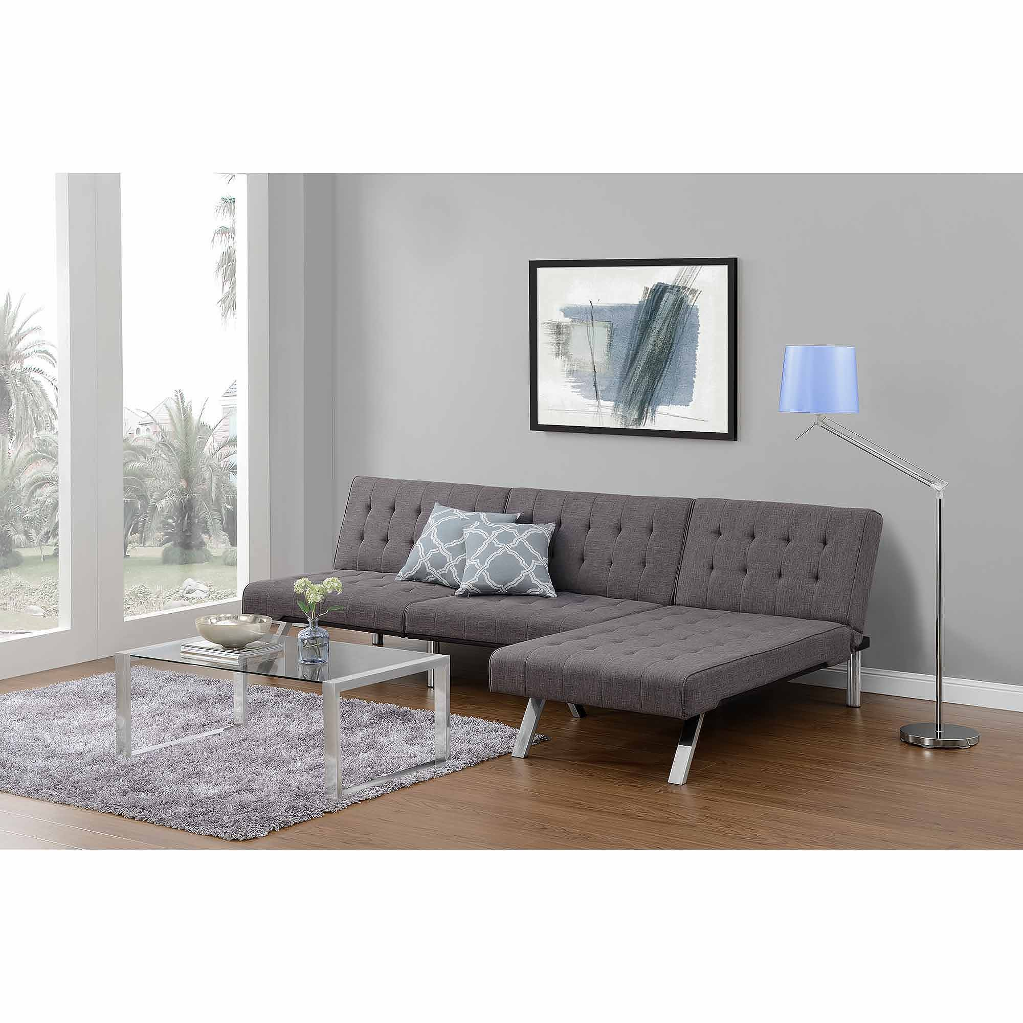 Dhp Emily Convertible Futon Sofa Couch Multiple Finishes Walmart Com