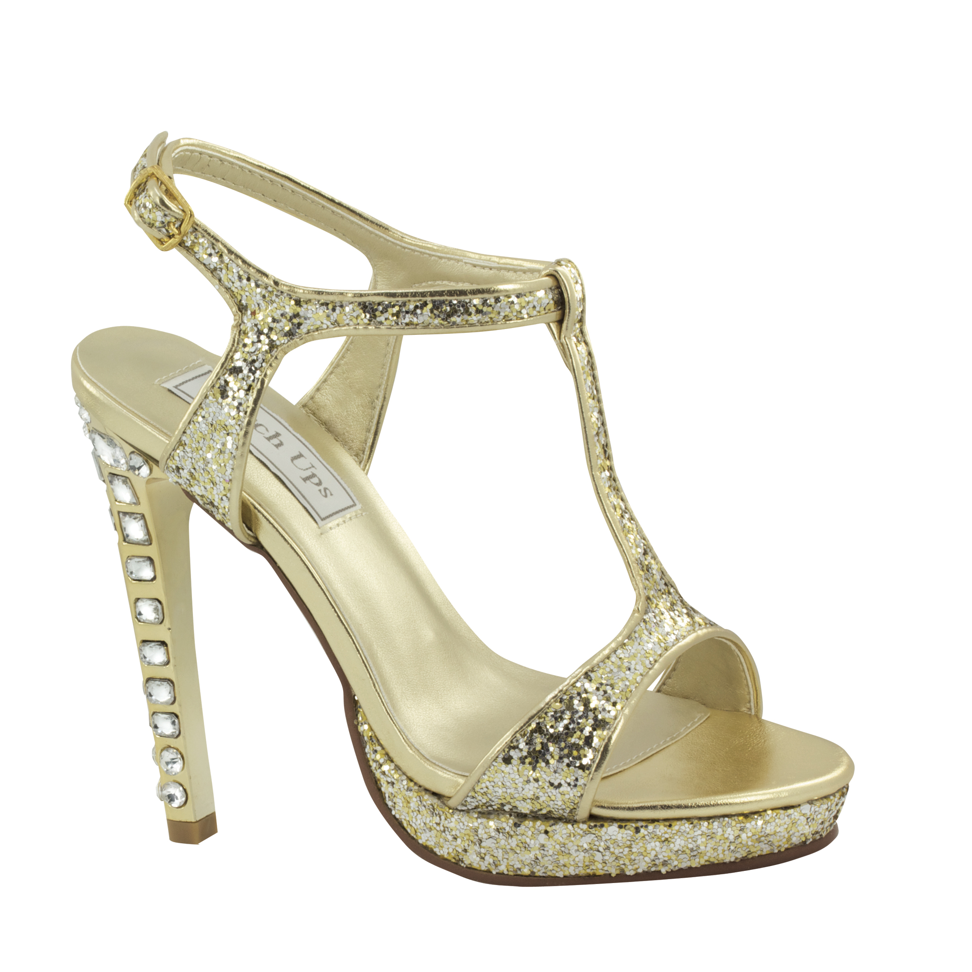Touch Ups Womens Darcy Platform Sandal,Gold Glitter,7 M US