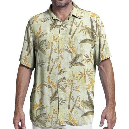 Margaritaville Men's  Cream Hawaiian Bbq Shirt  (Medium) W22 ()