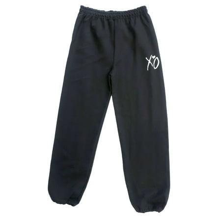 Black XO Sweatpants (White Logo)