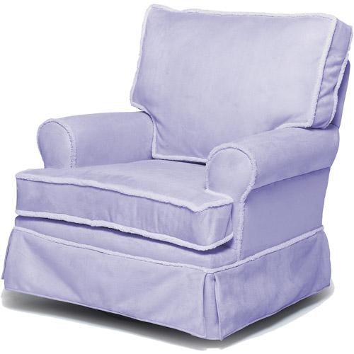 Newco International - Microfiber Square-Back Glider, Lavender