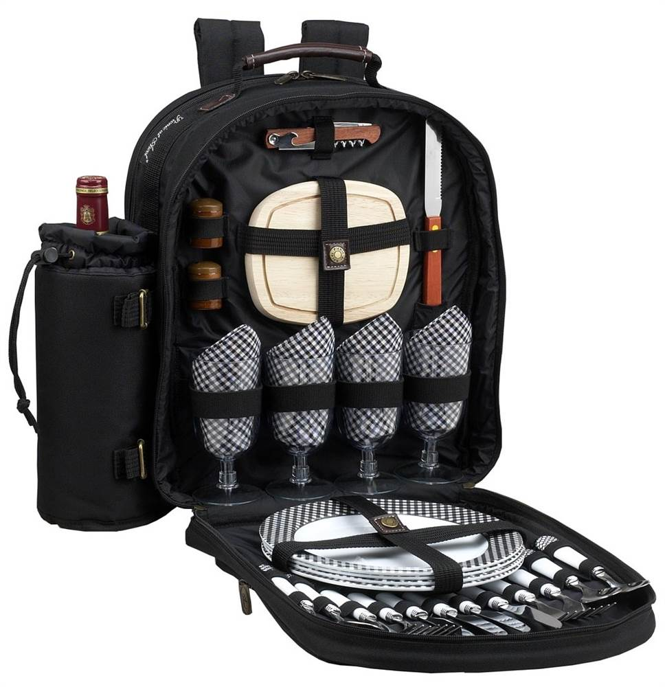 Classic Picnic Backpack for four-