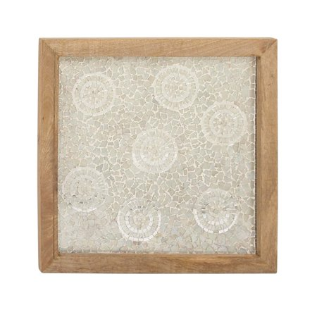 Decmode Eclectic 24 X 24 Inch Wooden Mosaic Art Wall Panel