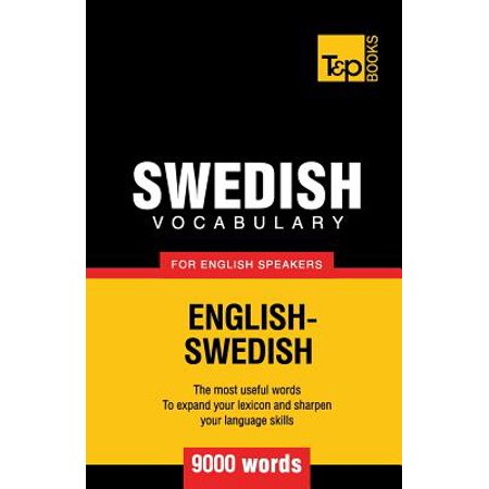 Swedish Vocabulary for English Speakers - 9000 Words (Halloween Vocabulary Words)
