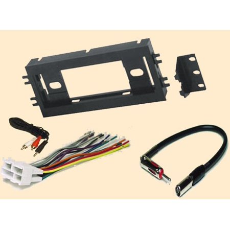 Chevy Camaro Dash - Radio Stereo Install Single Din Dash Kit + wire harness + antenna adapter for Chevy Chevrolet Camaro 90-96 and Pontiac Firebird ..,By Carxtc Ship from US
