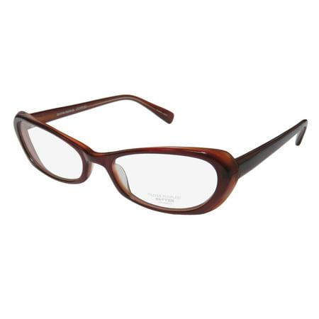 New Oliver Peoples Mandy Womens/Ladies Cat Eye Full-Rim Burgundy Glamorous Fancy Cat Eyes Frame Demo Lenses 51-17-135 Eyeglasses/Eyewear