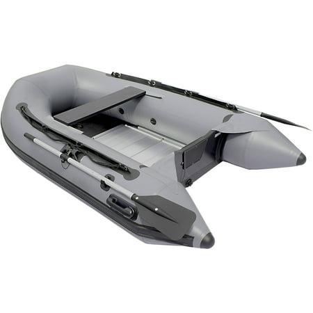 Aleko boat 8 39 4 inflatable boat with aluminum floor 2 for Walmart fishing boats