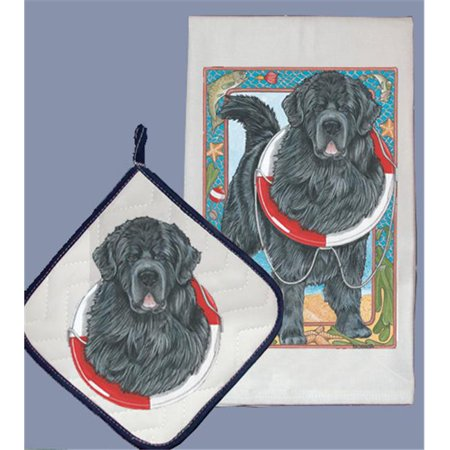 Pipsqueak Productions DP966 Dish Towel and Pot Holder Set - Newfoundland