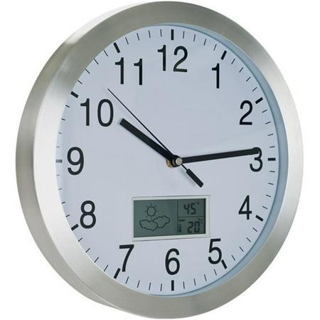Tg Weather Forecast Wall Clock  12   Aluminum