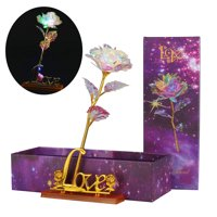 Galaxy Rose Flower Valentine's Day Lovers' Gift Romantic Flower With Love Bases