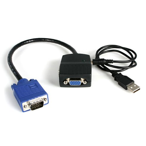 Startech.com St122le Startech 2 Port Vga Video Splitter Cable - Usb Powered - Black