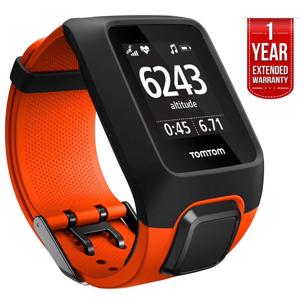 TomTom Adventurer GPS Outdoor Cardio Watch w  MP3 Player and Bluetooth (1RKM.000.10) Orange + 1 YEAR EXTENDED WARRANTY by TomTom
