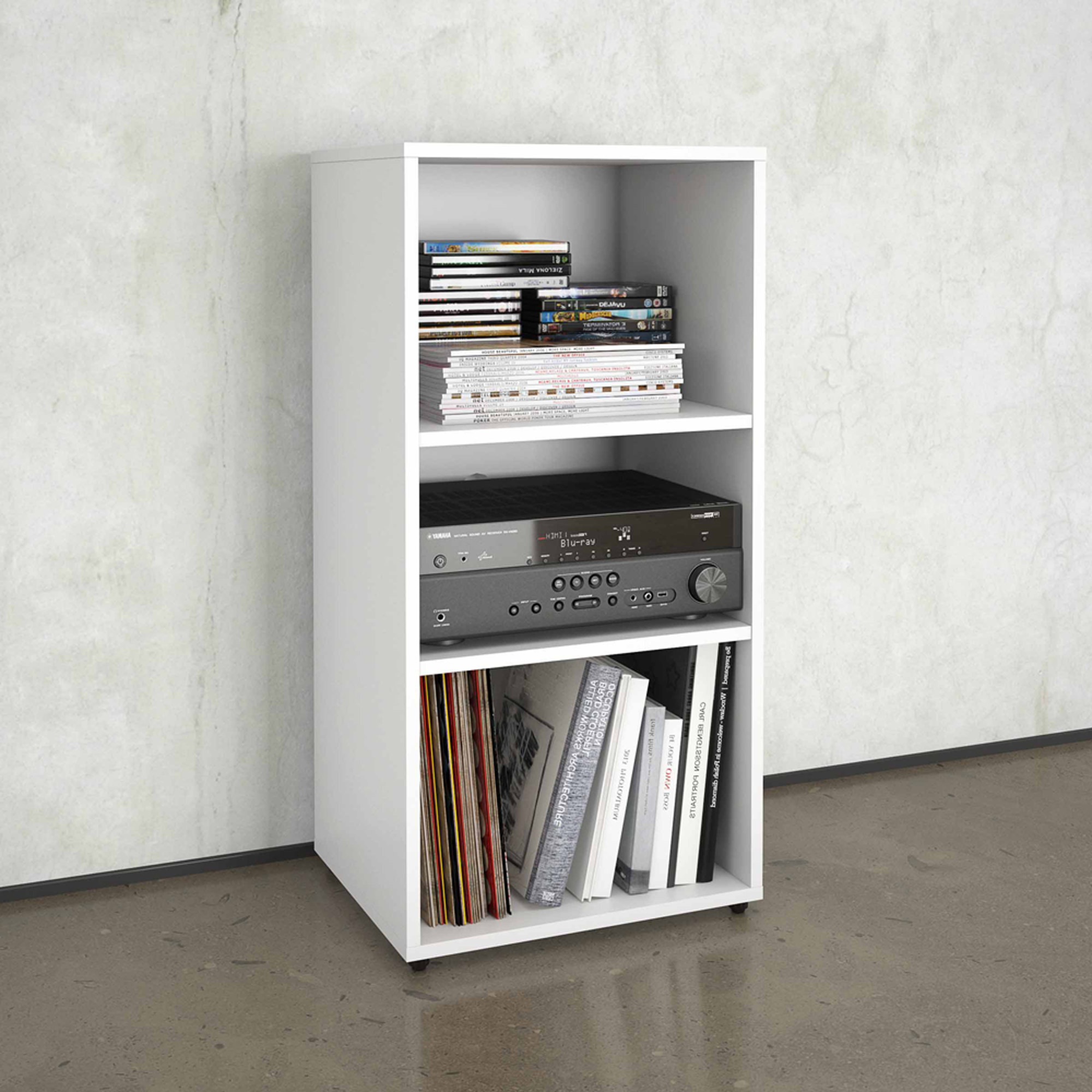 Nexera BLVD Open Storage Module, White