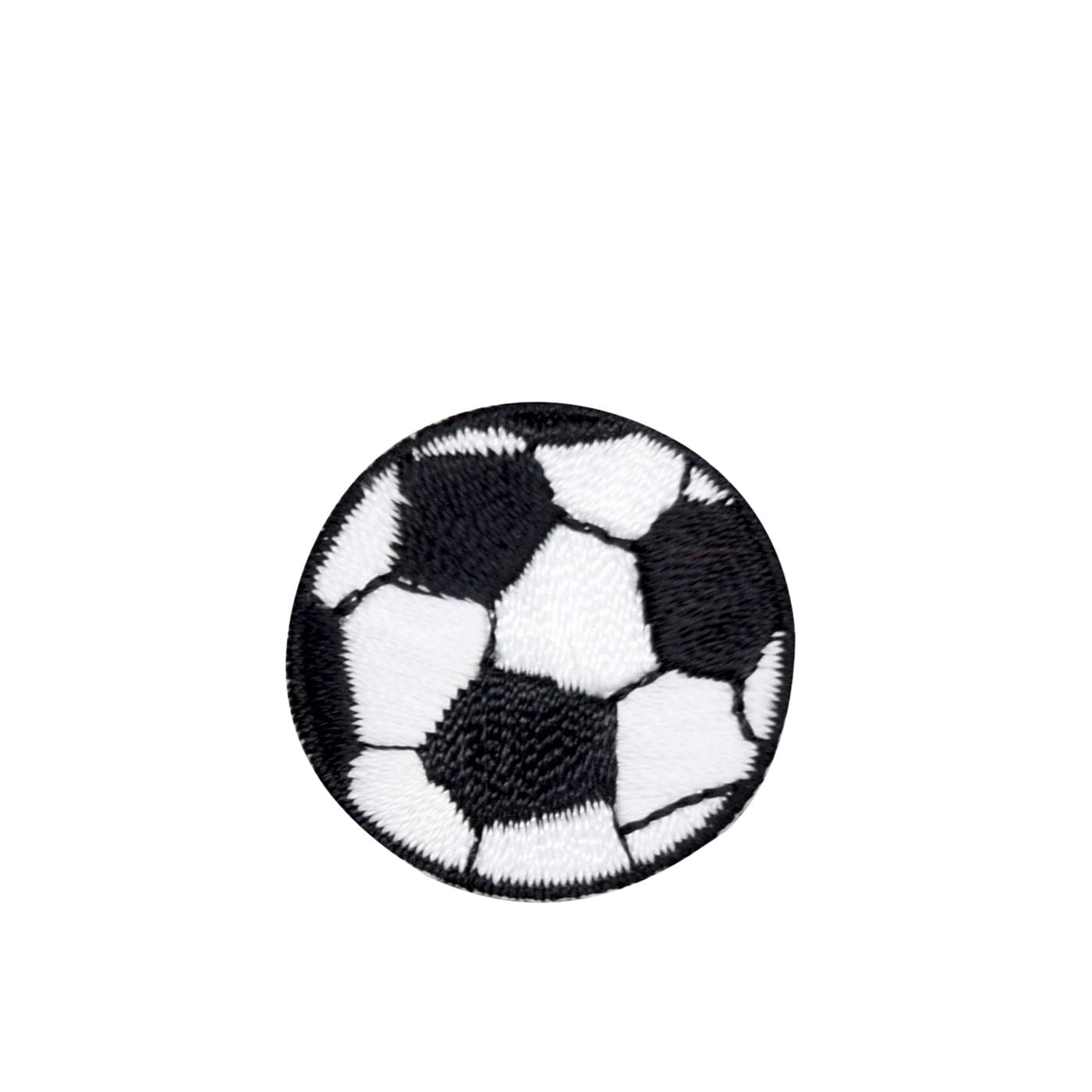 "SOCCER BALL 4"" ROUND CHENILLE EMBROIDERED PATCH APPLIQUE SEW ON STYLE"