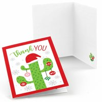 Merry Cactus - Christmas Cactus Party Thank You Cards (8 Count)