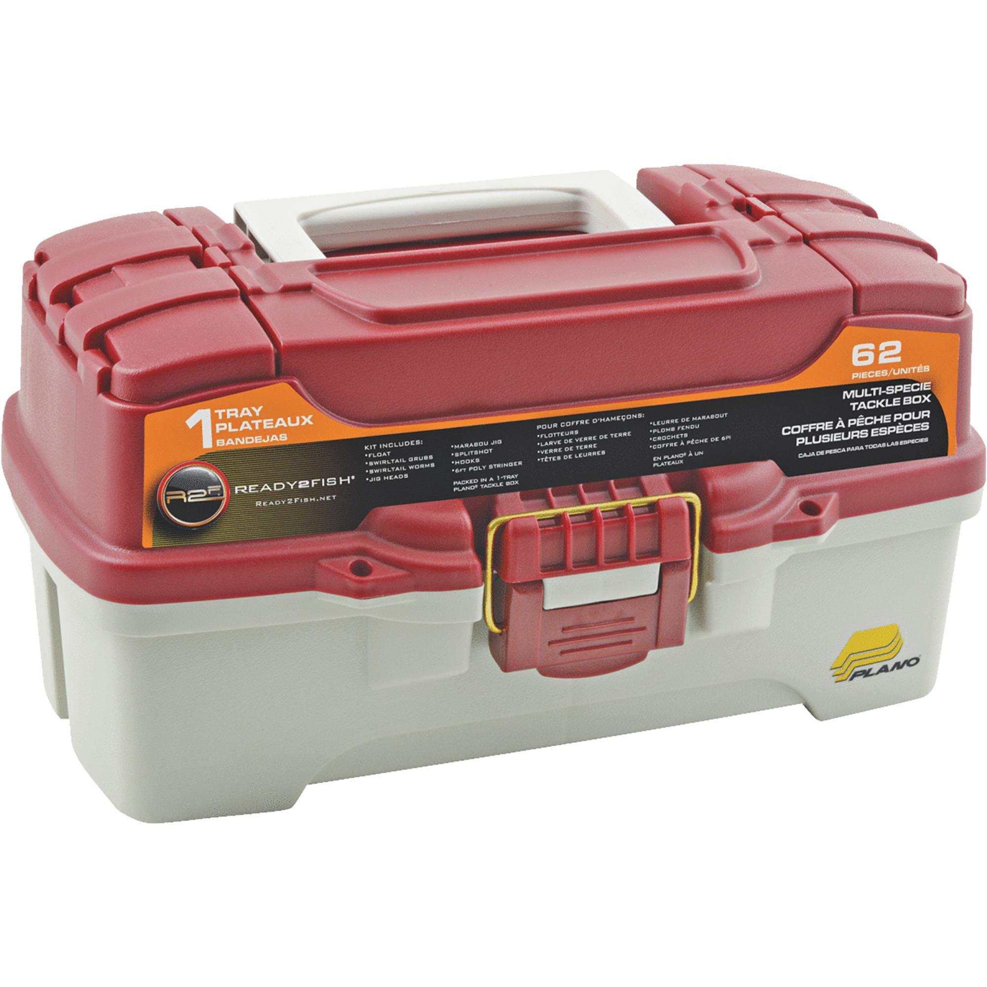 Ready 2 Fish 62-Piece 1-Tray Tackle Box by Ready 2 Fish