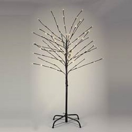 pre lit 6 foot brown twig christmas tree with 152 twinkle lights tr3213tw new