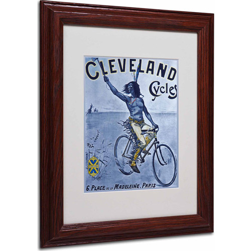 "Trademark Fine Art ""Bike 55"" Matted Framed Art by Vintage Apple Collection, Wood Frame"