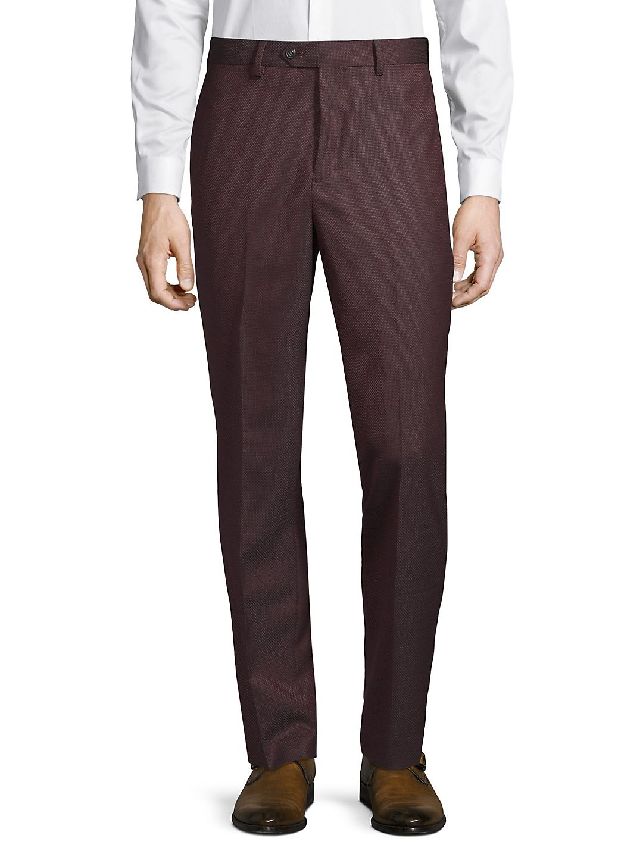 Textured Wool Pants
