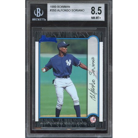 1999 bowman #350 ALFONSO SORIANO new york yankees rookie BGS 8.5 (9 9 8 8.5)