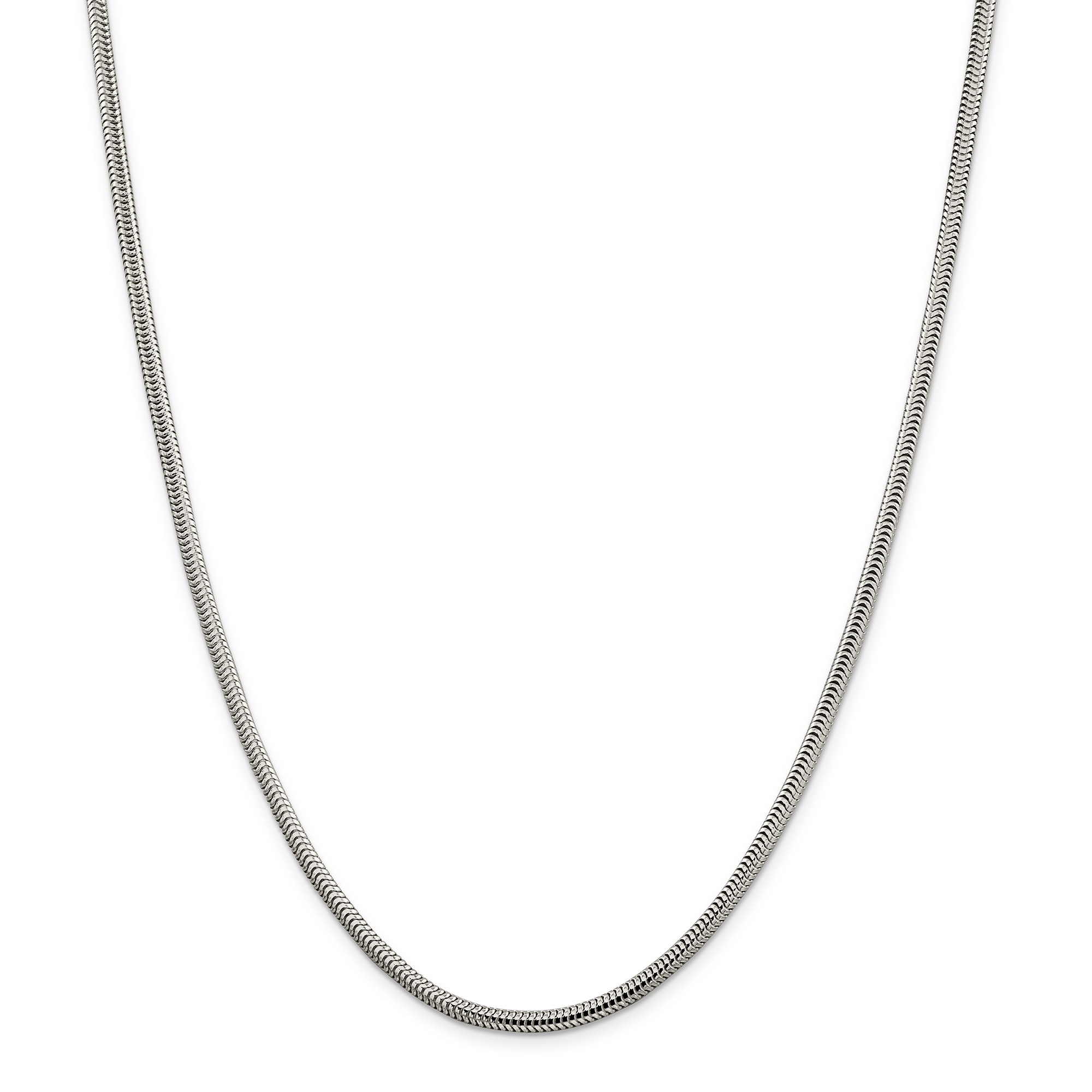 925 Sterling Silver 2.95mm Round Snake Chain 16 Inch - image 5 of 5