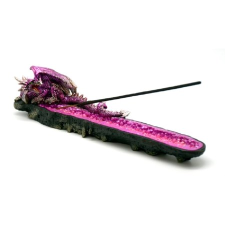 Magenta Red Dragon Mythical Fantasy Aromatic Incense Burner Holder Decoration