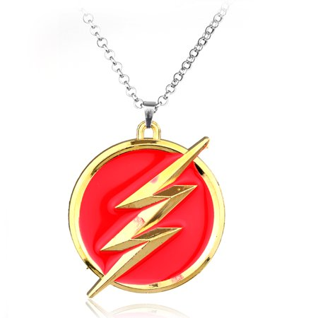 The Flash Necklace Superhero Lightning Bolt Tarnish Resistant Pendant Necklace J-23