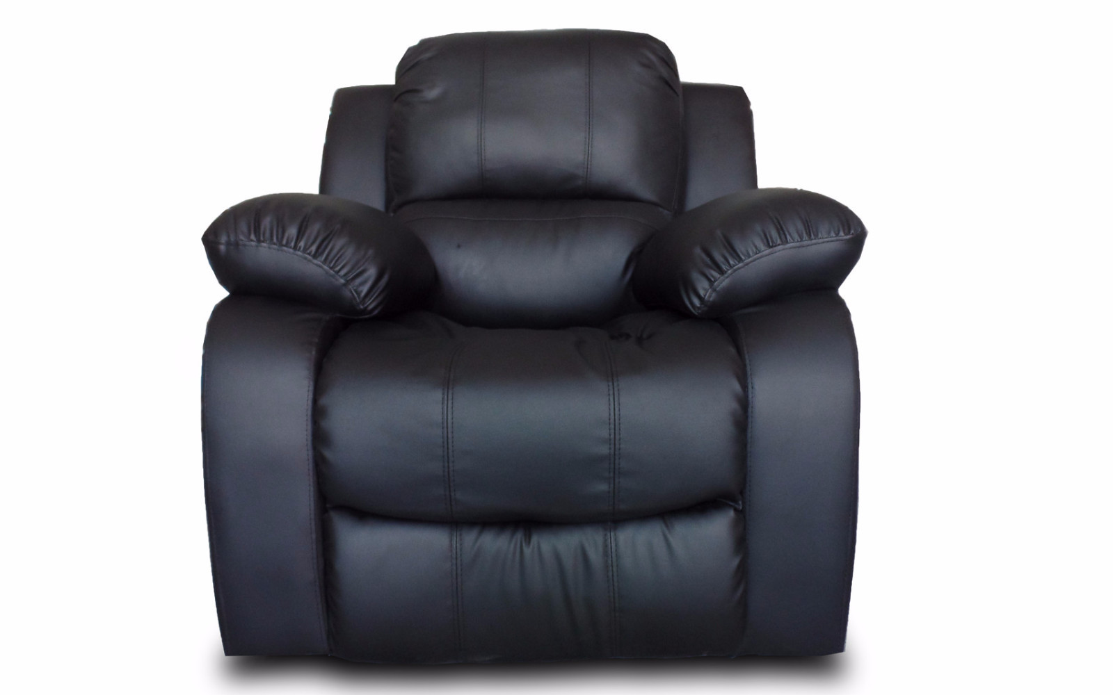 Classic Oversize and Overstuffed Single Seat Bonded Leather Recliner Chair - Walmart.com  sc 1 st  Walmart : cheap black leather chairs - Cheerinfomania.Com