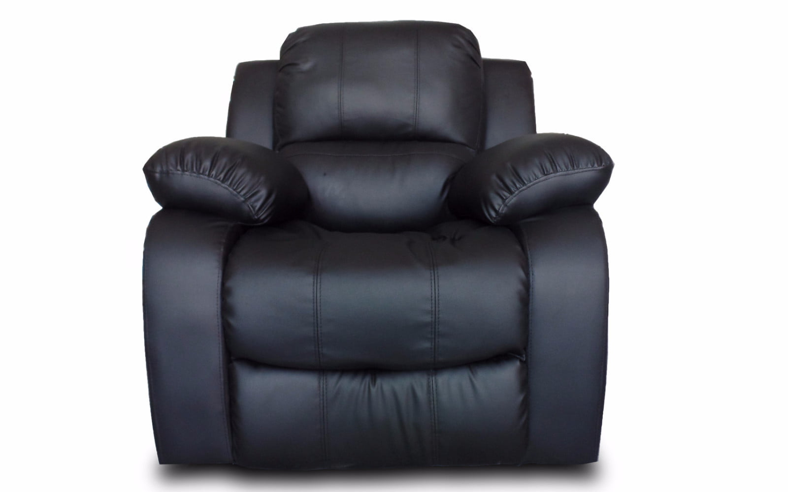 classic oversize and overstuffed single seat bonded leather recliner chair walmartcom