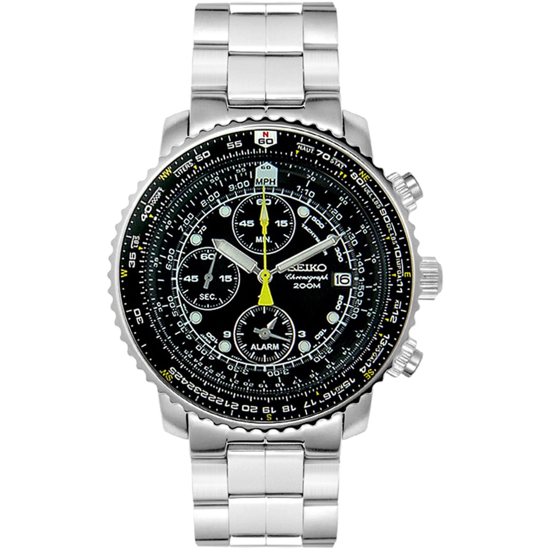 Seiko Men's SNA411 Silver Stainless-Steel Quartz Watch